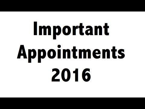 appointments who is who