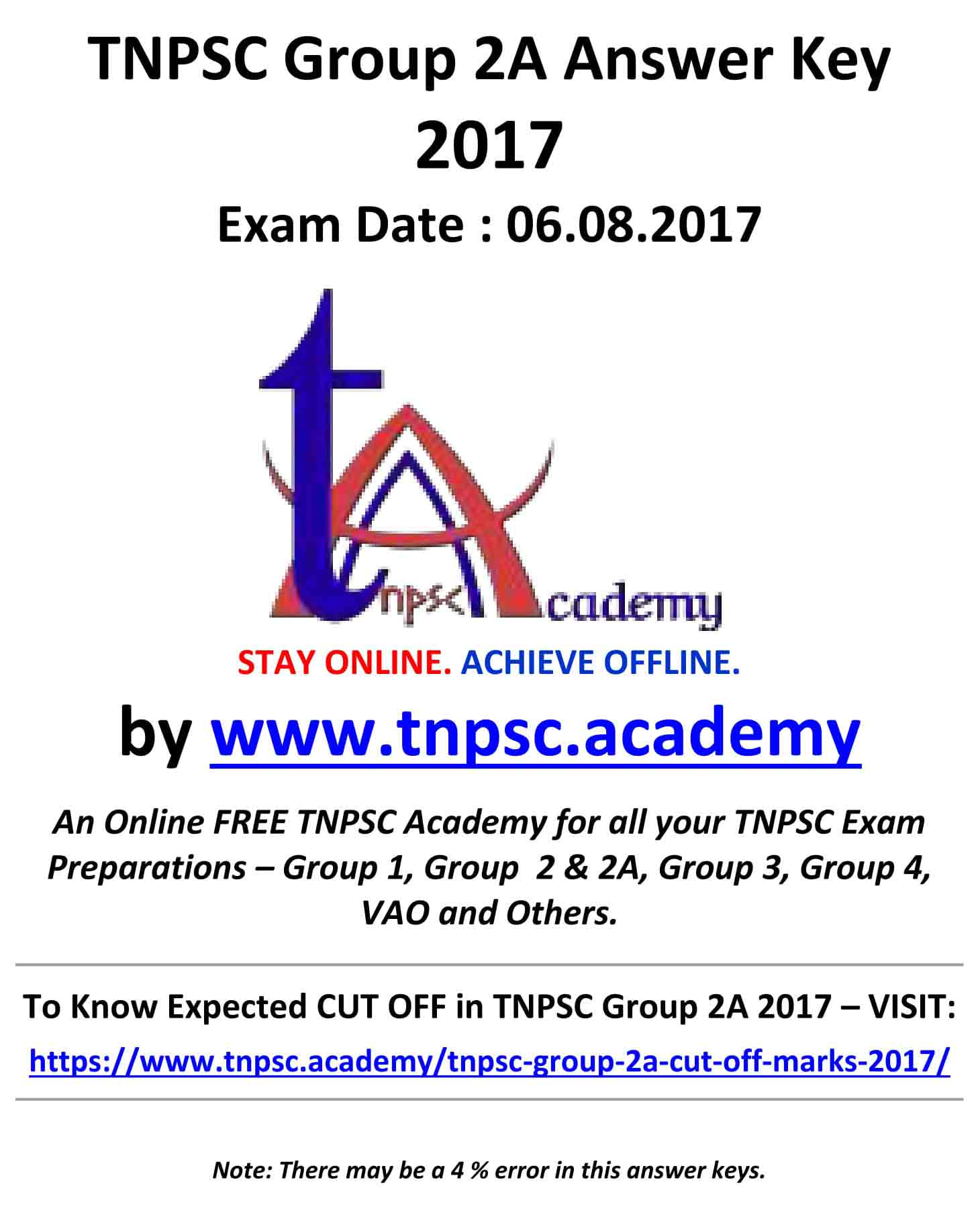 Group 2A Answer Key 2017