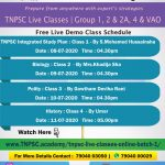 Demo class schedule
